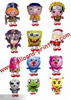 Free shipping !!! 90pcs/lots Mix styles ,wholesales walking cartoon balloons , Helium balloons