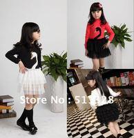 FREE SHIPPING children clothing  girl dress cotton children girl fashion swan dress
