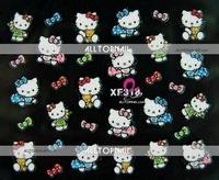 100pcs High quality Mixed Designs Hello Kitty 3D Nail Art Sticker for Easy Nail Art Designs - Free Shipping