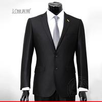 Suits male suit shirt tie black slim buckle