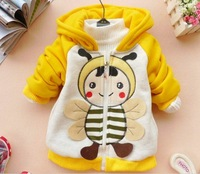 baby fashion thick warm coat hoody jacket cartoon kids autumn spring outfit overcoat outwear baby clothes T30 Retail
