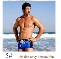 Wholesale Free Shipping  10 Pcs/ Lot  Hot men's sexy Tight lacing swimming trunks briefs shorts  8 colors 4 size