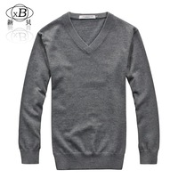 2012 autumn and winter male heart-shaped collar V-neck thick solid color sweater