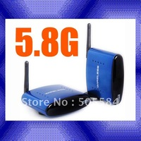 5.8G wireless video transmitter receiver kit 200M long range A/V Audio video sender CCTV Camera, DVD, DVR, IPTV, satellite STB