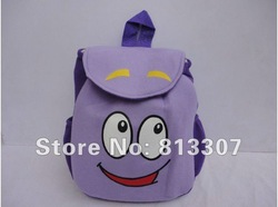 "Dora the Explorer ""Backpack"" Mr Face Plush Backpack Shool Bag Purple Toddler Size New! Retail(China (Mainland))"