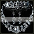 New Arrival Free Shipping Gorgeous Alloy with Clear Crystal Rhinestones Wedding Bridal Jewelry Set Necklace Earrings Tiara-JVA12