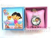 Free Shipping New Girls  Dora  cartoon Quartz Wrist Watches  Retail Packaging 10PCS/LOT