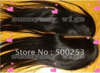 "Free Shipping To USA And EUROPE Middle Part Natural Color And  Straight  Brazilian Virgin Hair Lace Closure (3.5"" x 4"")"