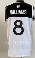 Free Shipping,#8 Deron Williams Basketball Jersey,Top quality Sports Jersey,Embroidery logos,Size 44-56,Mix Order