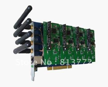 GSM400P 4 port GSM Asterisk card realize GSM,PSTN,telephone,Internet integration