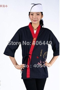 2014 NEW Japan chef uniform Bamboo pattern Japanese sushi women and man wear chef clothing  D48