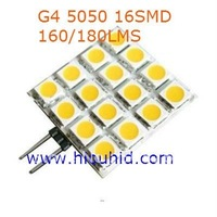 20pcs/lot G4 Base16 5050smd  LED Cabinet Spotlight Spot Light Bulbs Lamp Warm White 12Volt New best price free shipping