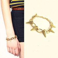 (Mix Minimum order is 10USD) Punk Style Spike Bracelet Jewelry