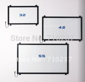 "55"" Infrared touch screen/Panel, IR touch frame, IR touch overlay kit free shipping cost"