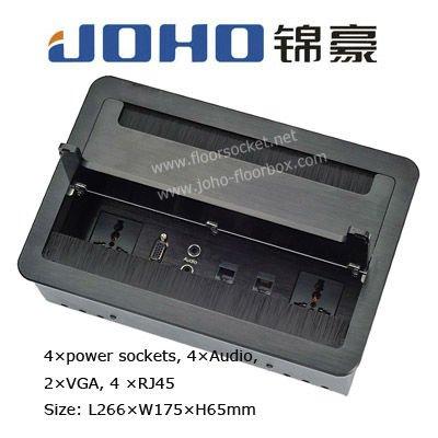 JH-105-BK Open Type Aluminum Black color Tabletop socket for conference desk(China (Mainland))