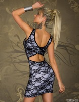 Женское платье lace+open back whole- lace new design Clubwear tops for women Dress size 2566 New style