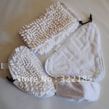 4pcs /set  Washable Microfibre Cloth Replacement Pads for Steam Mop X5 Cleaner 600sets/lot
