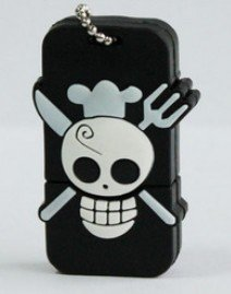 USB 2.0 Memory Stick Flash Drive Creative Skeleton Head One Piece D  Genuine 4GB 8GB 16GB 32GB