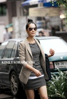 2012 New fashion women's slim small suit jacket OL style ladies coat Autumn clothing female slim blazer short jacket /lady coat