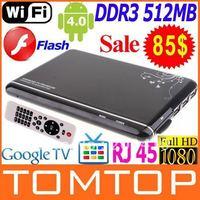 Google TV Box Android 4.0 ARM Cortex A9 WiFi HD 1080P HDMI Internet TV Box with Remote DDR III 512M 4GB+Flash+3D