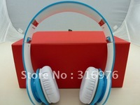 DHL free shipping BT Over-Ear Headphone (Light Blue)