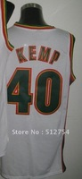 Free Shipping,#40 Kemp Basketball Jersey,Top quality Sports Jersey,Embroidery logos,Size 44-56,Mix Order