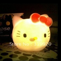 Free shipping 20pcs/lot  Colorful Cartoon Cat LED night light /hello kitty    Best gift for baby