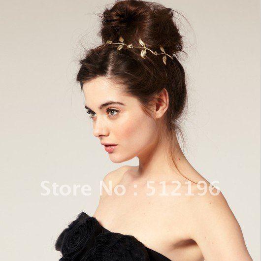 AHO033, Free Shipping! 20pcs/lot, Leaf Design Lipsy Floral Garland Style Hair Band(China (Mainland))