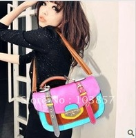 2012 han contrast color joker bag B1396 belt decoration portable aslant bag ladies&#39; bag