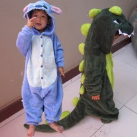 Free shipping child one piece sleepwear male romper autumn and winter cartoon lounge animal stitch