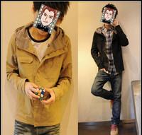 Free shipping ,hot sales 2012 autumn men's clothing ,2012 Korean man's fashion jacket, man's coat , high quatily outerwear