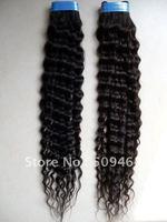 Hotsale! 24 Inch Brazilian Hair Deep Wave 100% Human Hair Bulk Weave # 1B Black Color Dropshipping Free shipping
