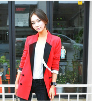 2012 winter women suit OL commuter elegant stylish suits for women lapel casual Slim double buckle blazers Free Shipping,Y010CN