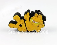 HOT! 100% full capacity retail Free shipping Garfield cat USB flash drive 2gb 4gb 8gb 16gb 32GB