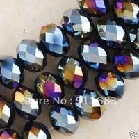 1000 PCS  5x8mm Black Crystal Loose Beads
