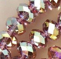 3x4MM 1000pcs Purple Multicolor Crystal Beads