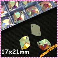 120pcs 11.5x19mm Sew On Rhinestone Clear AB Galactic Shape,12x19mm AX stone Sew on Crystal beads