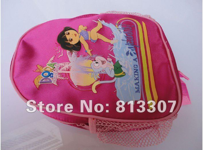 Wholesale DHL 20 pcs High Quality Nylon Dora the Explorer Backpack Child Pre School Bag dark red child bags(China (Mainland))