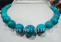 stunning big 10-20mm blue crude turquoise bead necklace