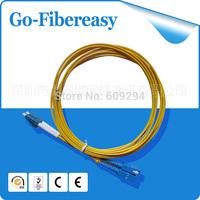 Hot LC/UPC to SC/UPC Fiber Optic patch cord Duplex fiber indoor fiber cable ,SM,PVC,40M,