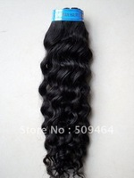 Wholesale- 18 Inch Brazilian Hair Deep Wave 100% Human Hair Weave # 1B Black Color Dropshipping 3pcs/lot