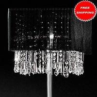 Free Shipping Stylish Floor Light in Black Shade