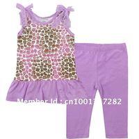 Baby Clothes Set, Kids Clothing Set, Children Top Dress + Pants, Child Clothing set, 6sets/lot, Free Shipping