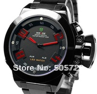 New Fashion Men's Style Unique Perpetual Calendar Digital LED Display Sports Stainless Steel Military Watch