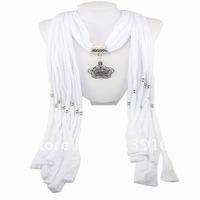 Hot 1pcs Wholesale fashion handmade tassels woman Cotton pashmina wrap scarf Alloy Flower beaded pendant necklace shawl jewelry