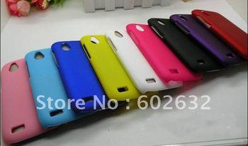 10pcs free ship Rubber Hard Case Cover for HTC Desire V T328w  +1pcs film