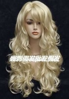 2012 newest gold big wave of holiday hair wig
