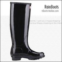 free shipping hot sales,Rain boots, rainshoes, black tall boots Brilliance rainboots