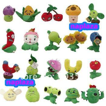 "Free Shipping 8 "" Plants VS zombies Stuffed Plush Toy   (20 pcs/Lot  )"
