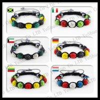 Free Shipping! Hottest Fashion Flag Shamballa Bracelet Tresor Paris Handmade Crystal Bracelets Wholesale And Retail